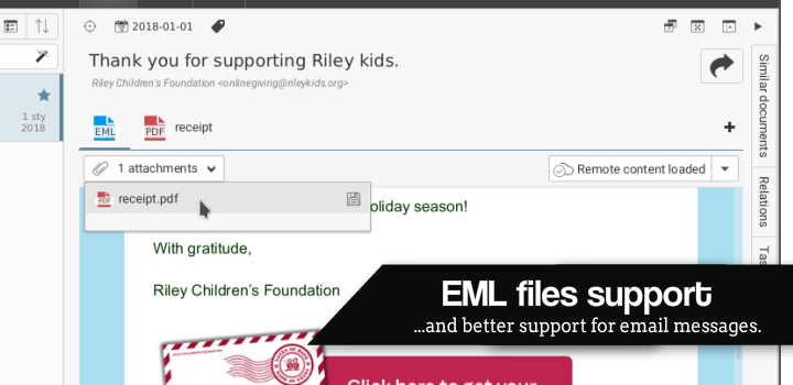 EML files support